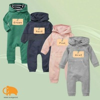 Retail,2012 Baby Autumn hooded romper,4 colors unisex,long sleeve bodysuit/jumpsuits,infant clothin