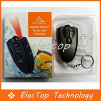 Free shipping Portable Digital Alcohol Breath Tester Analyzer Breathalyzer Keychain 100pcs/lot Wholesale