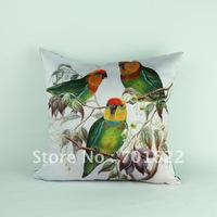 FREE SHIPPING cushion cover Gould Birds pattern 45*45cm