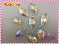 3200 Flower petal 20x10mm Glass crystal Leaf Shape Sew on Rhinestone Clear AB,10x20mm beauty fish sew on stones sew crystal