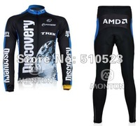 Free Shipping!! 2012 Cycling MEN Team Bicycle Outdoor Sports Long Sleeves Jersey+ Long Pants Size XS- 4XL CJY51