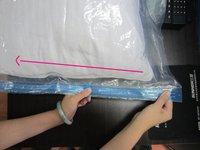 98*68CM Durable PE Vacuum Compressed Bag for Clothes