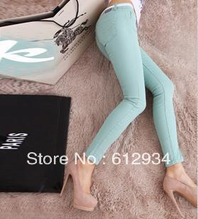 2013 new Colored pencil pants women candy  fashion pants stretch-cotton skinny pants slim women's casual pants  free shipping