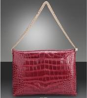 Hot-selling fashion crocodile pattern genuine leather women's handbag chain shoulder bag banquet bag