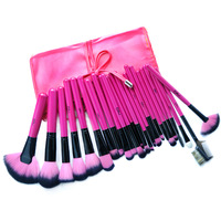 Free shipping MSQ Professional 24pcs Makeup Brush Set tools Make-up Toiletry Kit Make Up Brush Set Case Brushes free shipping