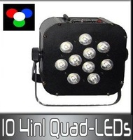RGBW Quad color led flat Par light/ battery powered wireless DMX led par light/ Dj light/ wireless led par can