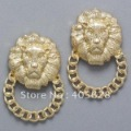 Hot! Fashion lion head stud earrings, gold colors