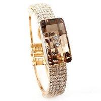 designer bracelet/bangle  Austrian big champagne cubic zirconia  Neoglory Rihood Trading BB-197 18K GOLD PLATE new arrival