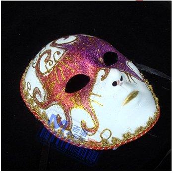 FREE SHIPPING Venetian Masquerade Masks  of the god of music theme Full face mask /  camival mask (6pcs/lot)