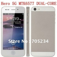 "New! I5 Hero H2000+ MTK6577 5G Dual-Core Android4.0  4.0"" Touch Screen 3G GPS WIFI Smartphone mobile Phone Singapore post"