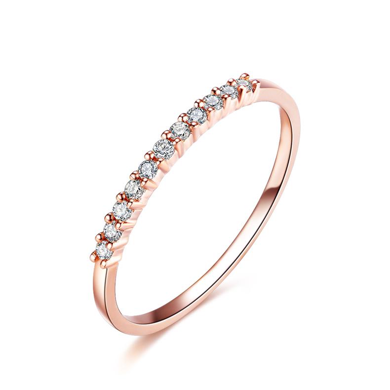... si diamond bague de mariage ronde cut 18k rose bijoux en or bijoux