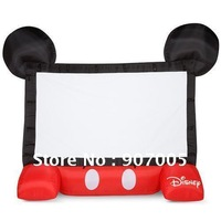 MS02 13ft 4m Airblown  Inflatable Mickey Movie Screen  Projector Cute Shape +Repair Kits + CE/UL Inflator + Free Shipping