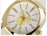 Free Shipping Fational Ladies' Quartz Wristwatches Golden and White For Option