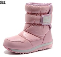Expert skills winter child cotton-padded shoes high-leg boots slip-resistant waterproof anti-icer snow boots hand painting boots