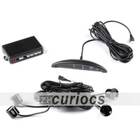 New 4 Parking Sensors LED Display Car Auto Reverse Backup Security Radar System