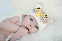 10 Colors Best price - Handmade Knitting children Baby Hat owl Woollen hat Mixed colors infant cap Free shipping 24pcs/lot