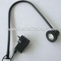3W 220V machine led work lights/ 3W LED flexibel pipe snake light gooseneck light WITH PLUG