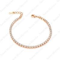 Simulated Diamond Bracelet 18K Rose Gold Plated Small Pieces Austria Rhinestones Bracelet B013R1