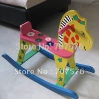 Child hobbyhorse colored drawing rocking horse powder flower horse child car rollaround horse toy