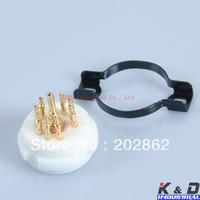 Gold Teflon 9 Pin ECC83 12AX7 EL84 Tube/Valve Socket