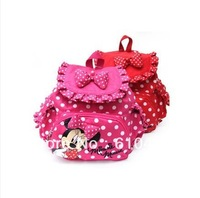 Free shipping!! Retail! baby girl's kindergarden backpacks children's school bag girl's cartoon Minnie bags baby girls bags