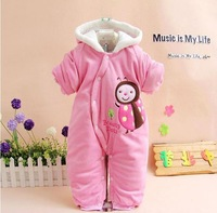 Free shipping Baby clothes 2013 winter cotton-padded romper one piece cotton-padded jacket winter romper down style romper