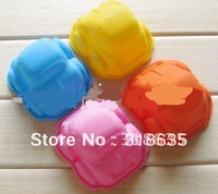 Wholesale -free shipping 9.5cm small car shape silicone cake mold muffin cases for baby shower 24pcs/lot free shipping