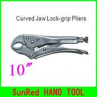 "SunRed BESTIR taiwan brand 10"" round mouth Curved Jaw Lock-grip Pliers hand tool ,NO.11113,wholesale and retail freeshipping"