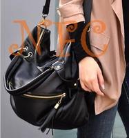 large capacity bags tassel fashion rivet shoulder bag women's handbag oversized bags