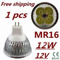 Retail LED High power MR16 4x3W 12W led Light led Lamp led Downlight led bulb spotlight Free shipping