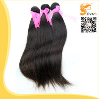 Natural Color 1b Machine Weft Hair weaving 8 inch to 30 inch 3pcs lot Wholesale Brazilian virgin straight Hair Free Shipping