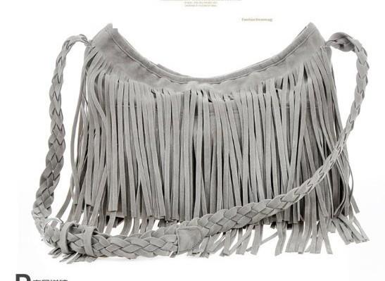 AR017 Free shipping! Hot sale Suede Fringe Tassel Shoulder Bag women's fashion handbag 4colors Q9(China (Mainland))