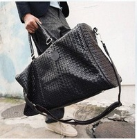 Free Shipping 2013 man bag big bags knitted cylincler bag