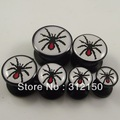 60pcs Free Shipping 6sizes Cool Spider Logo Ear Plug,safety ear plug Animal Ear Expander Flesh Tunnel Piercing Body Jewelry