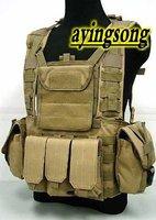 Sand, Green Tactical vest /US Molle Combat Strike Plate Carrier Vest