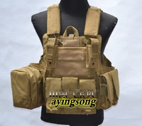 Sand Tactical vest /US Molle Combat Strike Plate Carrier Vest ,Free shipping