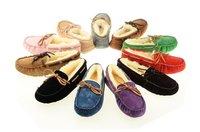 Australia sheepskin 100% Wool inside 5612 Women Dakota  warm Flat Slippers Gommini loafers Casual Slipper 5131 free shipping