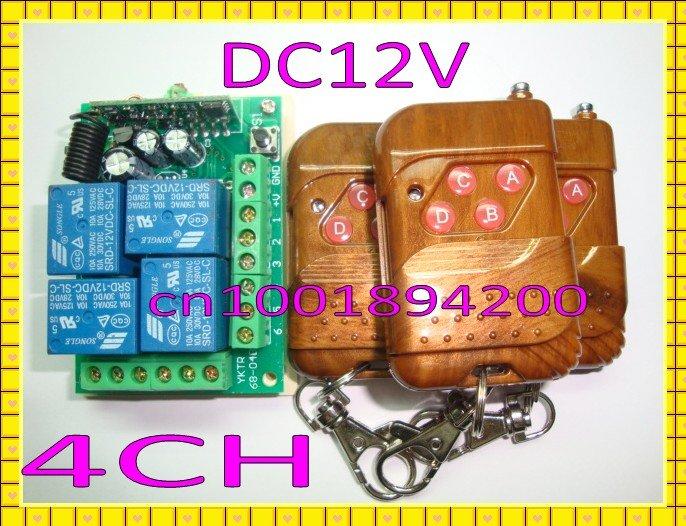 Дистанционный выключатель 1 & 3transmitter 315/433 DC12V 4Relay 4/,