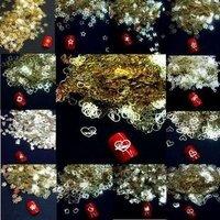Free Shipping 12 models Gold Nail Art Metal Sticker Decoration 1000pcs 3d nail art decoration adhesive nail art nail stickers