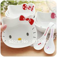 Free shipping Cartoon kitty three-dimensional kitty cat head style cartoon ceramic bowl rice bowl