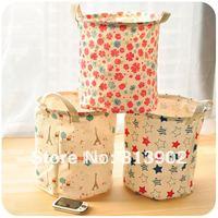 Free shipping  zakka circle sundries storage bucket dirty clothes storage basket  Distinctive Storage Box Collecting Bag