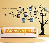 Free shipping Wall stickers photo frame living room tv wall sofa background wall decoration tree big size 270*180cm