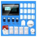 NEW!! Wireless GSM SMS Intercom Security Intruder Burglar Alarm System Kit LCD display Touch keypad gsm alarm(China (Mainland))