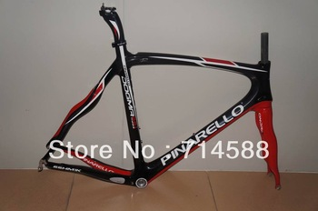 Popular 2013  Pinarello Dogma 65.1  in Black/red color,54 CM ,carbon road bicycle frame,factory direct sales!