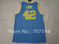 UCLA  Kevin Love #42 Blue College Football Jersey -Free Shipping