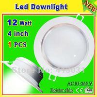 Aluminum Profile 12w led downlight kits white shell with power driver 12 watt ac 85-265v recessed Lamparas De Techo Led CE ROHS