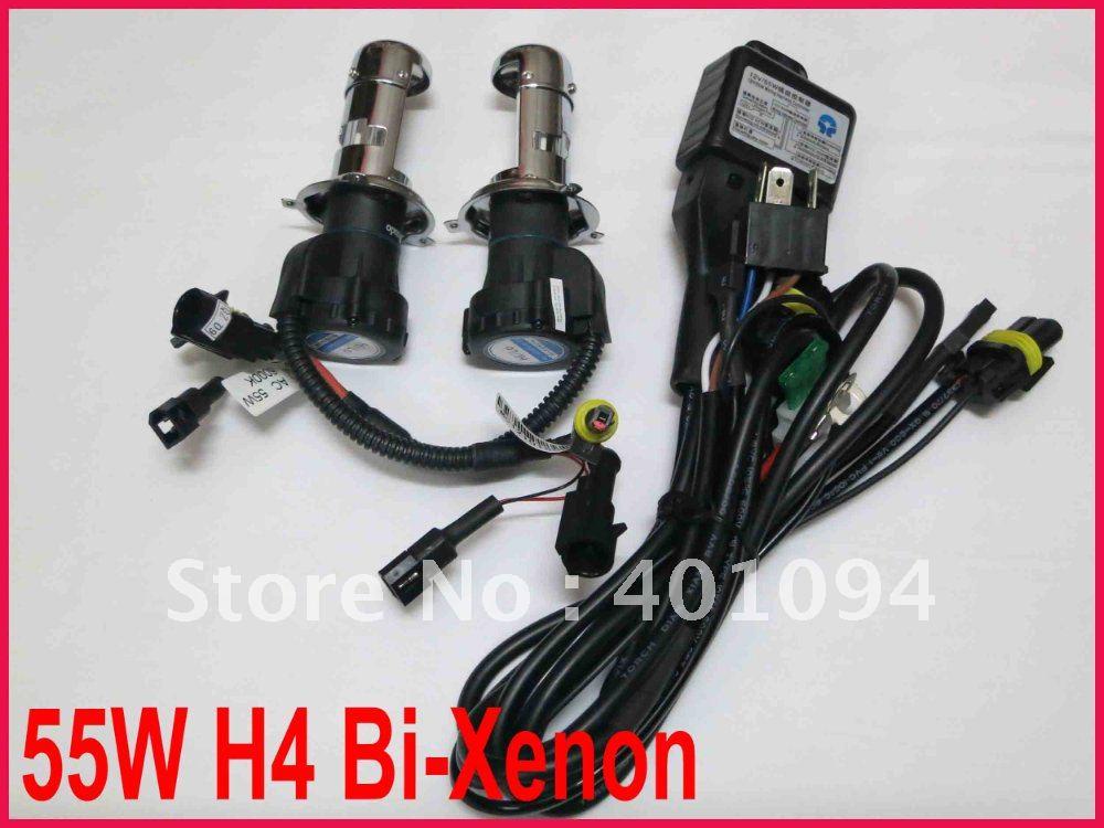 30 PAIRS 12V 55W H4-3 9003 HB2 Bi-Xenon HID Xenon Replacement Bulbs High/Low Hi/Lo Genuine 55W AC Spare Lamp 4.3K 6K 8K 10K 12K(China (Mainland))