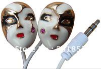 SB-EB180 metal cute belle facial crystal gift in-ear fashionable promotion mini stereo 3.5mm/2.5mm earplug earbud earphone