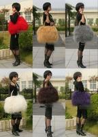 Luxury Real Mongolia Lamb Fur Bag Handbag Shoulder Bag PU6786 6 Color Option