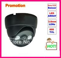 """Recommand 1/3"""" CMOS 600TVLine IR-CUT Filter 2pcs Array IR leds indoor dome CCTV Camera free shipping !!"""